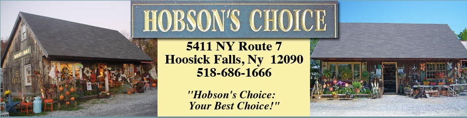 Hobsons Choice Greenhouse - Perennials - Annuals - Unique Gifts